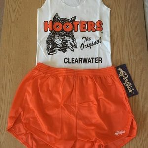 Hooters uniform tank & dolfin shorts Medium
